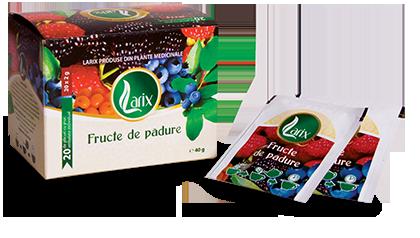 Forest fruit tea – covered teabag