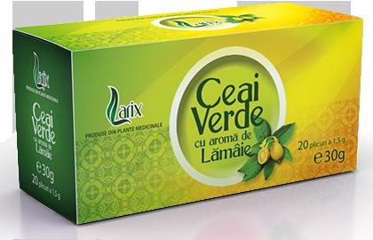 Ceai verde cu aromă de lămâie – 20 plicuri