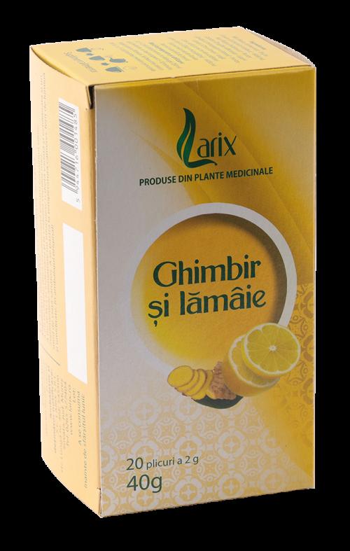Ceai Ghimbir cu lamaie, 20 plicuri